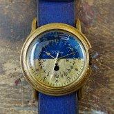 かっこいい腕時計 arrow Blue&Brass Mサイズ バイカラー ミリタリーウォッチデザイン