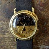 かっこいい腕時計 arrow Black&Brass Mサイズ バイカラー ミリタリーウォッチデザイン