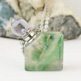 フローライト香水瓶ネックレス 菱形 015| 天然石 パフューム 香水ボトル フレグランスボトル