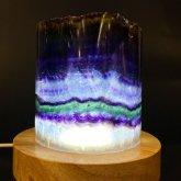レインボーフローライトの鉱物ランプ 004|鉱石ランプ 鉱物標本 照明 ジェムイルミネーション