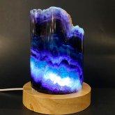 レインボーフローライトの鉱物ランプ 009|鉱石ランプ 鉱物標本 照明 ジェムイルミネーション