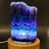 フローライトのランプ 015|原石ランプ 鉱物標本 照明 ジェムイルミネーション
