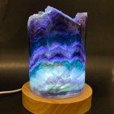 フローライトのランプ 016|原石ランプ 鉱物標本 照明 ジェムイルミネーション