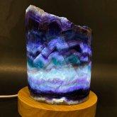 フローライトのランプ 018|原石ランプ 鉱物標本 照明 ジェムイルミネーション