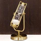 大きな スチームパンク 砂時計 約30分 高さ35cm 直径14cm|アンティーク レトロ オブジェ
