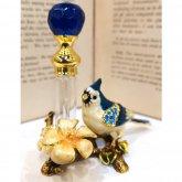 お花と青い鳥の香水瓶| アンティーク ヴィンテージ パフュームボトル