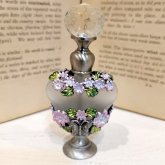 蝶と花のハート形の香水瓶| アンティーク ヴィンテージ パフュームボトル