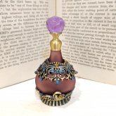 紫色の香水瓶| アンティーク ヴィンテージ パフュームボトル