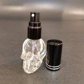 Skull 香水瓶|  サンプルポータブルパフュームボトル (ブラック)