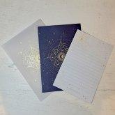星座のレターセット 1組セット 紺色 金の箔押し ステーショナリー