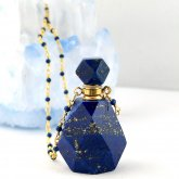瑠璃(ラピスラズリ)香水瓶ネックレス 003 | 天然石 パフューム 香水ボトル フレグランスボトル