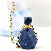 瑠璃(ラピスラズリ)香水瓶ネックレス 004 | 天然石 パフューム 香水ボトル フレグランスボトル