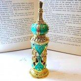 アラビアン調の香水ボトル グリーン 香水瓶| アンティーク ヴィンテージ パフュームボトル