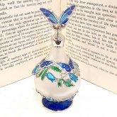 青い蝶の香水瓶 香水ボトル| アンティーク ヴィンテージ パフュームボトル