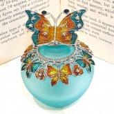 アクアグリーンの蝶の香水瓶 香水ボトル| アンティーク ヴィンテージ パフュームボトル