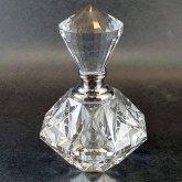 クリスタル型香水瓶 透明 Diamond 香水ボトル| アンティーク ヴィンテージ パフュームボトル