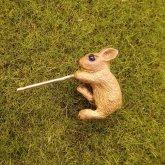 DECOvienya デコヴィーニャ ウサギのピアス 茶色 片耳