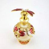 トンボの香水瓶 レッド 香水ボトル| アンティーク ヴィンテージ パフュームボトル