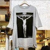 Gothic Laboratory Jesus Christ ビッグシルエット Tシャツ gray