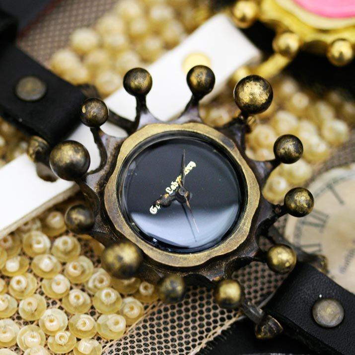 ミルククラウンの腕時計 drop a time night blac