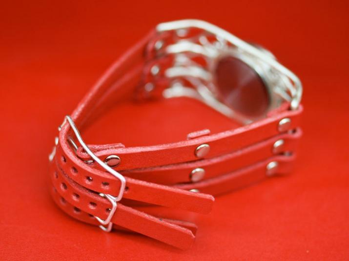 富崎NORIデザインウォッチ Elegant Wire Red