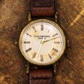 アンティークな腕時計 Classic Wristwatch white 白文字盤