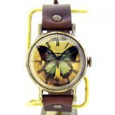 �Ĥ�ij���ӻ��� Classic Wristwatch L-size blue butterfly