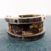 chord コード 太陽と月の手紙リング Letter Ring damage