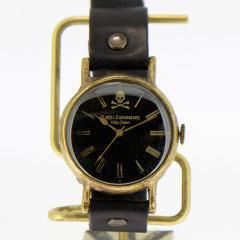 �h�N���̘r���v Skull Wristwatch Black L �X�J�� �[�� �����Y