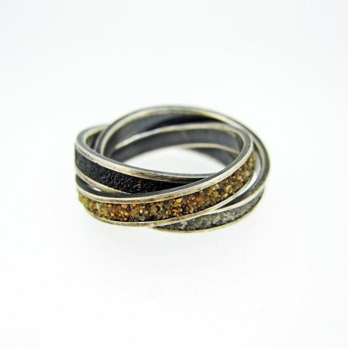 chord コード 砂の三連リング Color-Triple Ring