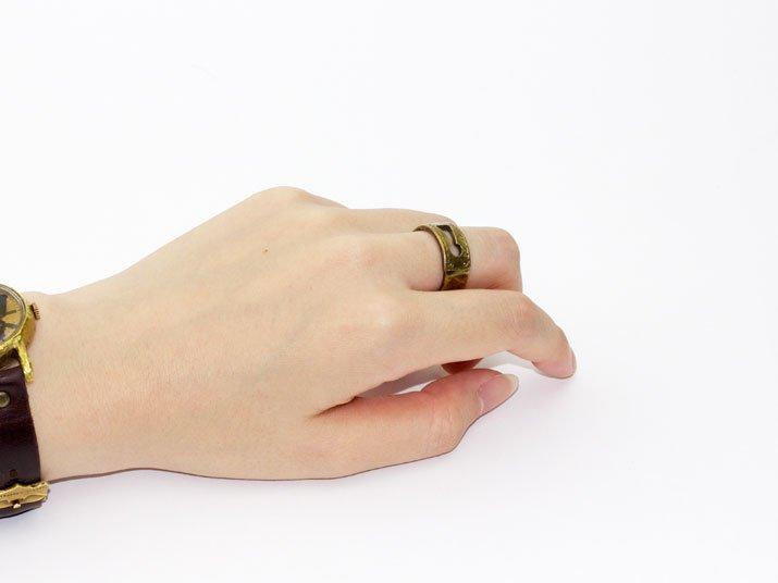 a:buchiadot アーブチアドット 身に着けるインテリア 鍵穴リング(ALL真鍮)