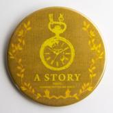A STORY TOKYO 古書風 懐中時計 缶バッジ YELLOW XL