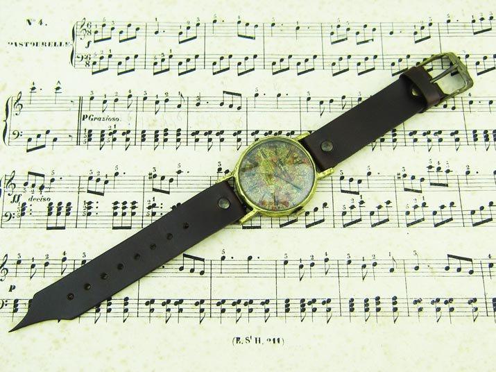 壮大な星空の腕時計 Classic Wristwatch Star chart 星座 LL