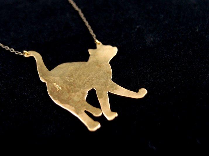 ウケンムケン 可愛い ネコ ネックレス