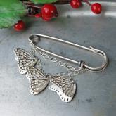 cocoon コクーン アサギマダラ 蝶のブローチ シルバー