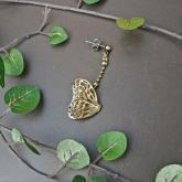 cocoon コクーン アサギマダラ 蝶のピアス  真鍮 (片耳)