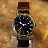 アンティークな腕時計 黒文字板 Classic Wristwatch Black index