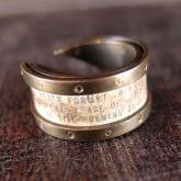chord コード 太陽と月の手紙リング Letter Ring (真鍮)