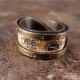 chord コード 太陽と月の手紙リング Letter Ring damage (真鍮)
