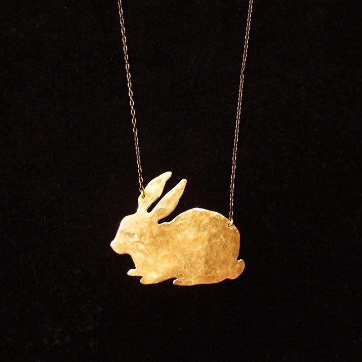 ウケンムケン 動物シルエット ネックレス ウサギ