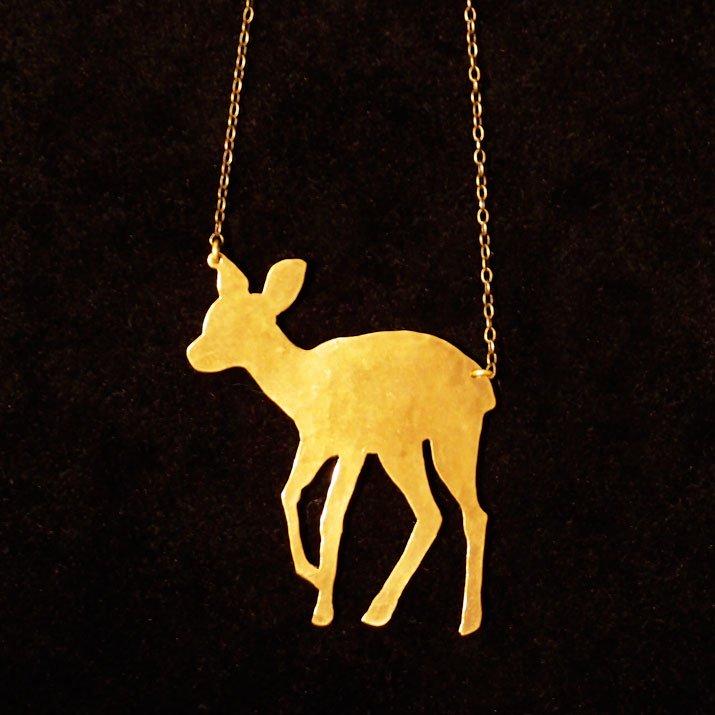 ウケンムケン 動物シルエット ネックレス バンビ