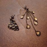 cocoon コクーン ウロコのピアス  真鍮(両耳)