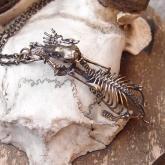 nyui ニュイ boneネックレス モグラ全身骨格 真鍮いぶし