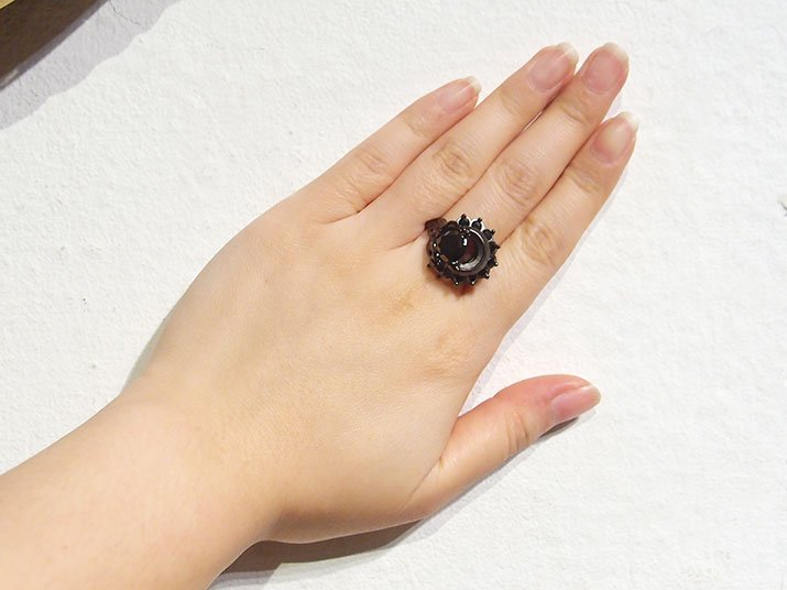 nyui ニュイ mertyリング ブラックキュービック ブラック 8〜19号