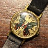 アカネアゲハの腕時計 手作り腕時計 Papilio rumanzovia