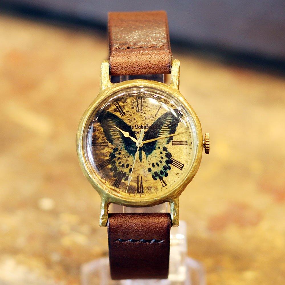テンジクアゲハの腕時計 Classic Wristwatch (L M SS) Papilio polymnestor
