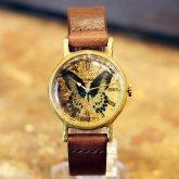 テンジクアゲハの腕時計 Classic Wristwatch (M SS) Papilio polymnestor