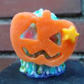 MON モン キャンドル ハロウィンドロリン かぼちゃのお面