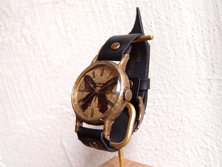 クロアゲハの腕時計 Classic Wristwatch (L M SS) Papilio protenor