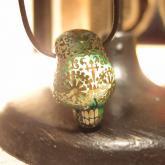 Caspol Glass カスポルグラス アンティーク模様のカラベラ ペンダント ティール